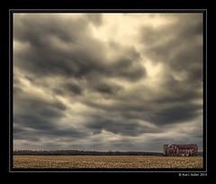 a sky big enough for two days (Marc Aubin2009) Tags: sky field clouds barn landscape farm