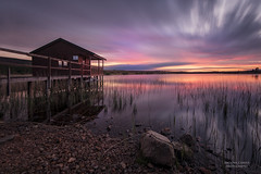 Boathouse Sunset LE (Michael Carver Photography) Tags: sunset clouds scotland highlands nikon long exposure scottish loch boathouse nairn d800 findhorn lochan 1635mm tutach