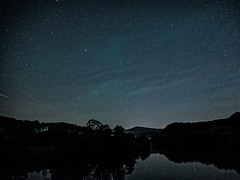 Meteors over the James (Michael Kline) Tags: may va nightsky jamesriver milkyway 2014 meteorshower