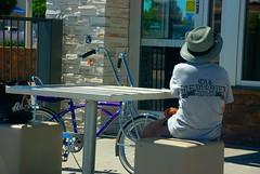 Boy & Bike (richardzx) Tags: albuquerque mcdonalds bananabike richardzx oldmemoriescarclub