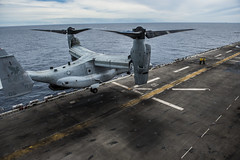 150616-N-FV739-046 (SurfaceWarriors) Tags: sailors calif meu marines arg essex flightdeck ussessex westpac flightops 15thmeu mv22 lhd2 ussessexlhd2 hsc21 essexamphibiousreadygroup cpr3 vmm161 christopheraveloicaza