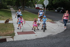 Kids ready to cross the street 2 (Aggiewelshes) Tags: dog dogs bike lucy july lisa victor vivian july4th olsen cailin jovie 2015 jalila balancebike