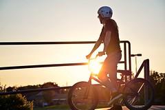 Sunset & Jaymee (Braden Bygrave) Tags: sunset summer sun table cool nikon bmx fisheye skatepark tabletop nohands kitchner d7100 nikond7100 18140mm