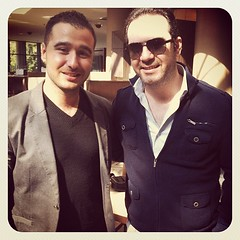 With artist Wael Jassar #singer #lebanon #celebrity (alain.dargham) Tags: lebanon celebrity singer uploaded:by=flickstagram instagram:photo=498142672748710917198952466