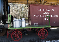 MidContinent Railway Museum - Freight (NikonD3xuser1(Thanks for 1.7 million visits)) Tags: usa wisconsin northfreedom midcontinentrailwaymuseum freight milkcans boxcar nikon d810
