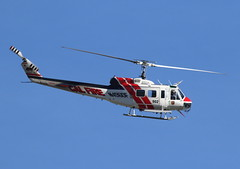 Copter 902 (trifeman) Tags: 2017 march winter california sacramento mcclellan kmcc mcc airport bell huey calfire copter902 helicopter aircraft firefighting canon 7d canon7dmarkii tamron tamron150600mm n496df 902 eh1hiroquois