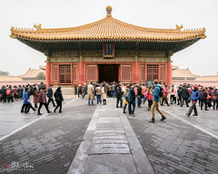 Forbidden City (Bill Thoo) Tags: forbiddencity palacemuseum beijing china historical architecture pagoda hall imperial chinese emperor royal travel museum palace building urban monument gilt golden red sony a7rii samyang 14mm