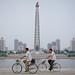 Riverfront cyclists
