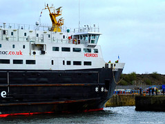 Scotland Greenock entering the ship repair dry dock car ferry Hebrides 13 March 2017 by Anne MacKay (Anne MacKay images of interest & wonder) Tags: scotland greenock ship dry dock caledonian macbrayne car ferry hebrides xs1 13 march 2017 picture by anne mackay