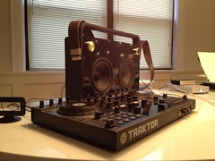 TDK Boombox and Traktor S4 (oliverchesler) Tags: traktor boombox s4 tdk nativeinstruments