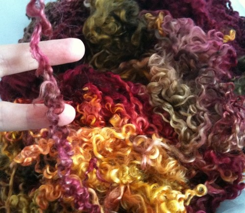 Teeswater Hand Dyed Fleece FALL LEAVES back in stock at http://www.sarastexturecrafts.com/teeswater---hand-dyed-fleece-6997-p.asp