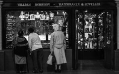 Window Shopping (Matticusmeridius) Tags: ladies monochrome humour attraction jewellers