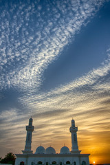 Sunset at the mosque, Al Ain, UAE (dmjames58) Tags: travel sunset colour architecture clouds uae mosque abudhabi 7d alain hdr canon7d