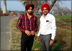 Ranjit With Surinder (ranjitchahal) Tags: turban punjab surinder binjal jangpur ranjitsinghchahal