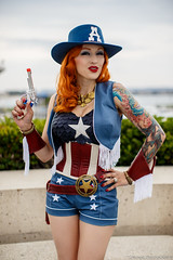 Sheriff Miss Captain America (Jason.E.N.) Tags: summer portrait female america canon costume san downtown comic cosplay diego international captain sheriff 12 miss con sdcc 6d 2013 50l