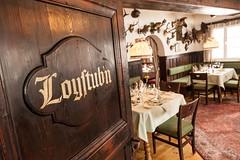 "Haubenrestaurant Loystub'n <a style=""margin-left:10px; font-size:0.8em;"" href=""https://www.flickr.com/photos/37696740@N06/9586907851/"" target=""_blank"">@flickr</a>"