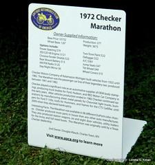 Fact sheet on Checker Marathon (Peachhead (4,000,000 views!)) Tags: classic vintage antique marathon cab taxi yellowcab checker taxicab checkercab checkermarathon worldcars