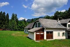 A Typical Alpine House (jerryjcwu) Tags: travel summer landscape austria countryside scenery europe nikkor alpinevillage d600 stwolfgang badischl alpinegrassland afsnikkor28mmf18g