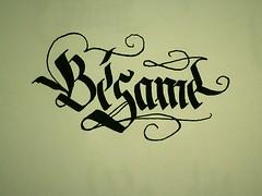 Bsame (roenski) Tags: ink kiss amor spanish lettering calligraphy parallel pilot espaol caligrafa inkt besito kalligrafie bsame pilotparallel roenski