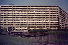 AMSTERDAM 1976 (streamer020nl) Tags: amsterdam zuidoost flat slide scan demolished 1976 bijlmer flatgebouw bijlmermeer echtenstein gesloopt