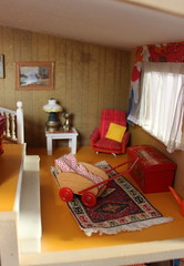 Mr. Lundby´s relaxing chair (*blythe-berlin*) Tags: orange vintage göteborg toys dolls furniture gothenburg 70s möbel byebye spielzeug dollhouse caco jahre puppenhaus lundby 70ziger biegepuppen doll´shouse