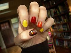 Happy Turkey Day mani (Velma's World) Tags: thanksgiving turkey hand mani manicure turkeyday nailpolish