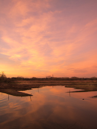 December Sunset at Rye Meads