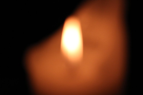 Blur and a candle