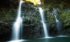 hike to the falls (bloung) Tags: longexposure canon landscape island hawaii waterfall maui 24l 5d2 seafall
