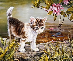 Play Cat And Dragonfly Online Puzzle Game (thefoxdot) Tags: puzzles jigsawpuzzles onlinepuzzles playpuzzle jigbo catanddragonflypuzzle