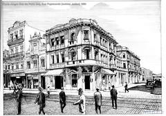 Porto Alegre Rua da Praia esq. Rua Payssandú (caldas Junior) 1920