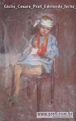 Giulio Cesare Prati Edmondo ferito olio su tela 35x23cm 1894 Collezione privata