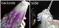 New selfmade wig (Sakura-Streifchen) Tags: wig bjd angelegg marmitesue selfmadewig amahtalacreations