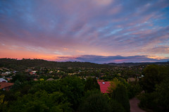 Summer Sunset (Victoria King.) Tags: sunset sky color colour nature clouds landscape photography evening nikon day afternoon view australia hills canberra d5100