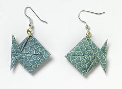 Origami création - Didier Boursin - Boucles d'oreille poissons