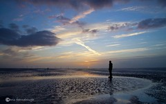 IMG_0239 (chris fearnehough) Tags: sunset liverpool sunrise crosby antonygormley anthonygormley anotherplace gormleystatues ironmanstatues