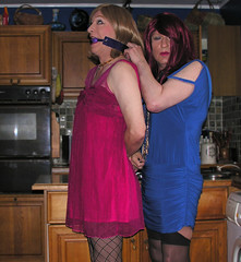 becca's new gag (gillian .) Tags: stockings tv dress lace dom feminine cd sub tights tgirl transgender mature tranny blonde transvestite fishnets gag suspenders crossdresser ts tg pantihose