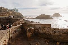 Sutro Baths (rmattson) Tags: ocean sf sanfrancisco people sun beach water canon graffiti ruins pacific bright pacificocean landsend sutrobaths sutro dslr markiii 5d3 5dmarkiii 28mmcanonef28mmf18usm