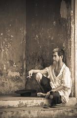 Thinking ... (HieuTruong - VietNam) Tags: oldman vietnam hue dieudepagoda huepagoda vietnampadoga hueoldman vietnamoldman oldmanpagoda