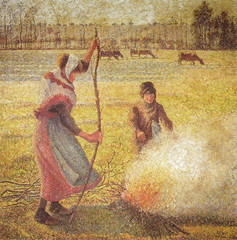 Camille Pissarro - Young Peasant Girl Starting a Fire - Hoarfrost, 1888 at Muse d'Orsay Paris France (mbell1975) Tags: paris france art girl museum painting french fire gallery ledefrance museu hoarfrost fine arts young muse musee m impressionism museo camille orsay impression impressionist muzeum dorsay peasant starting pissarro beaux beauxarts mze 1888 museumuseum