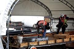 Carpenters build on (WSDOT) Tags: th wsdot washingtonstatedepartmentoftransportation kiewit bridgeconstruction pontoon floatingbridge sr520 stateroute520 aberdeen ironworker sr520pontoons cycle4