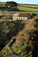 Prussia Cove (Tina Varcoe) Tags: uk cliff landscape scenery cornwall path cove cottage steep prussia