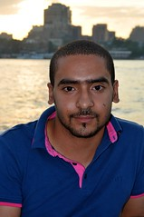 Cast member Ezz Eldeen Adel on a Nile Cruise in Cairo, Egypt.