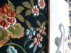 Senju Kannon (raycious) Tags: red black flower history floral japan asian japanese gold belt asia god handmade gorgeous traditional goddess ornament hanging kimono obi calligraphy oriental shinto hanger ofuda japanesefabric japanesecraft handsew fuda kinshi kinran