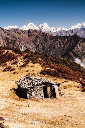 Col de Tharepati (3600m), devant le Dorje Lakpa
