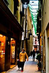 Calles estrechas - Narrow streets (diegomorde) Tags: barcelona life street city trip travel viaje people urban espaa woman color primavera lady person persona march calle spring mujer spain europa europe mediterranean seasons gente outdoor walk bcn citylife streetphotography shoppingcart ciudad places catalonia vida caminar pasear urbano catalunya activity society oldtown month narrow ontheroad marzo sociedad catalua mediterrneo estrecho viajar andar iberianpeninsula barna cascoviejo carrito 2014 enlacarretera seora estaciones pennsulaibrica cascoantiguo estrecha actividad vidadelaciudad alairelibre fotografacallejera photographicgenre diegomorenodelgado