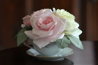 Paper Roses in Teacup