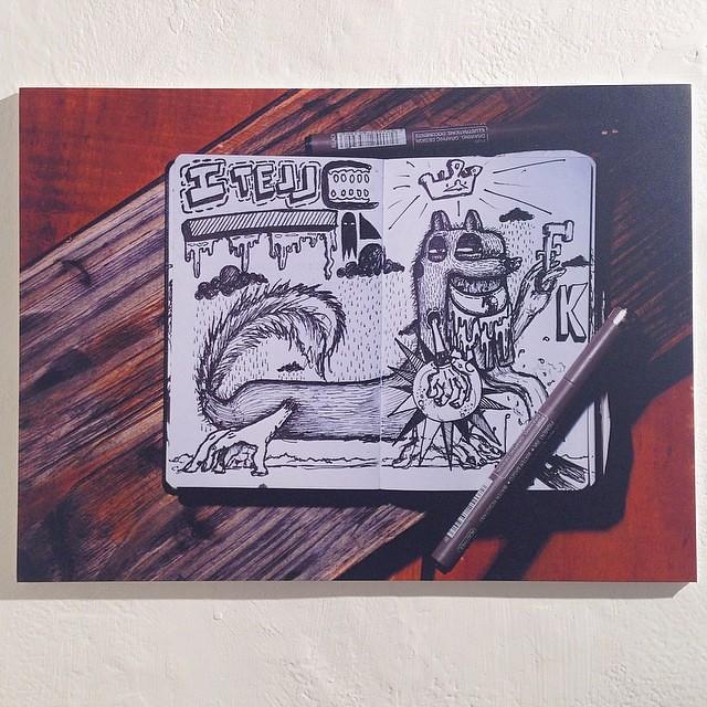 """Individual """"Amarillo""""  de Mucho @theartofmucho en Bruno Gallery #arteenlima #artinlima #arte #art #mucho"""