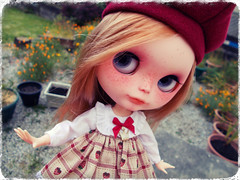 Playing In the Garden (Missy_Crane) Tags: cute doll bees delight kawaii blythe custom simply imogen dreamland idollzoo
