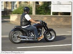 Barton Bike Night Arrival (Paul Simpson Photography) Tags: summer man bike image transport images motorbike bikerider northlincolnshire photosof imageof blackbike photoof bartonbikenight imagesof sonya77 paulsimpsonphotography